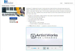 ArtistWorks screenshot