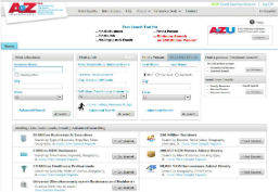 AtoZ databases screenshot